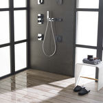 ready-to-tile shower base / ceramic / extra-flat / flush