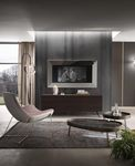 wall-mounted TV mirror / contemporary / rectangular / square