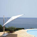 offset patio umbrella / fabric / aluminum / hand crank