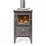 wood heating stove / central / steel / cast iron