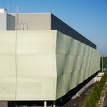 mesh cladding / textile / composite / perforated