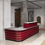 sheet metal reception desk