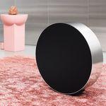 wall-mounted speaker / wireless / aluminium / fabric