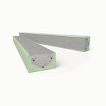 insulating lintel / concrete / reinforced / prefab