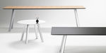 contemporary conference table / wooden / rectangular