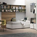 green children's bedroom furniture set / gray / lacquered wood / unisex