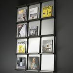 contemporary magazine rack / for offices / aluminum / steel