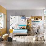 blue children's bedroom furniture set / yellow / elm / unisex