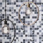 indoor mosaic tile / pool / wall / glass