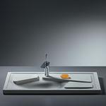 fiber-reinforced concrete countertop / kitchen / frost-resistant / gray