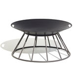 wood-burning fire pit / metal / contemporary
