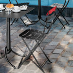 traditional restaurant chair / folding / bistro / steel