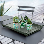 steel serving tray / home