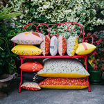 exterior cushion / rectangular / square / patterned