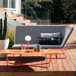 contemporary sofa / garden / acrylic fabric / water-repellent fabric
