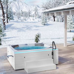 above-ground hot tub / rectangular / 2-person / outdoor