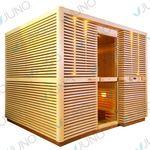 sliding panel sauna