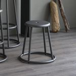contemporary stool / metal / outdoor / gray