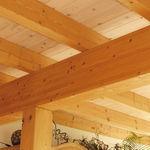 prefab beam / wooden / rectangular