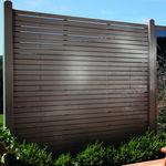 garden fence / louvered / wooden