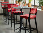 contemporary bar chair / upholstered / cotton / Sunbrella®