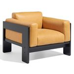 contemporary armchair / ash / beige / commercial