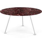 contemporary dining table / tempered glass / laminate / marble