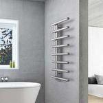 electric towel radiator / hot water / stainless steel / steel