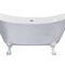 bathtub with legs / oval / acrylic