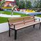 public bench / contemporary / hardwood / steel