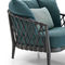 contemporary armchair / fabric / synthetic fiber / cast aluminum