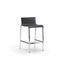 contemporary bar stool / aluminum / commercial / with footrest