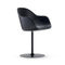 contemporary chair / upholstered / with armrests / star base
