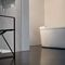 contemporary chair / with armrests / sled base / lacquered steel