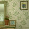 traditional wallpaper / silk / floral / gray