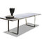 contemporary dining table / metal / MDF / rectangular