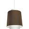 pendant lamp / contemporary / painted metal / fabric