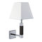 contemporary wall light / steel / painted metal / fabric