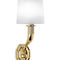 contemporary wall light / cast aluminum / painted metal / fabric