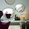 wall-mounted mirror / living room / contemporary / wooden