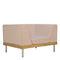 contemporary armchair / teak / fabric / aluminium