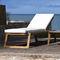 contemporary sun lounger / teak / garden