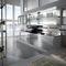 modular reception desk / laminate / stainless steel / glass