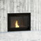 pellet fireplace / contemporary / closed hearth / built-in