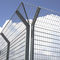 athletic field fence / wire mesh / galvanized steel / painted steel