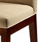 contemporary chair / fabric / beech / solid wood