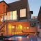 HPL wall cladding panel / exterior / natural / white