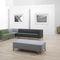 modular sofa / corner / contemporary / wood