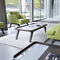 contemporary coffee table / wooden / metal / rectangular