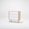 contemporary chest of drawers / oak / MDF / white